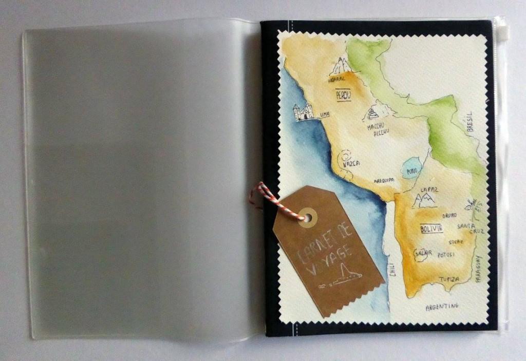 carte pour carnet de voyage